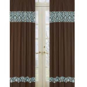 Blue and brown curtains home design ideas
