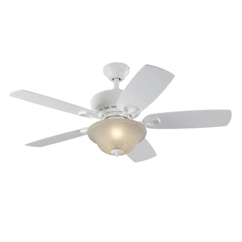 lowes white ceiling fan lowe s harbor cove 44 in white indoor ceiling