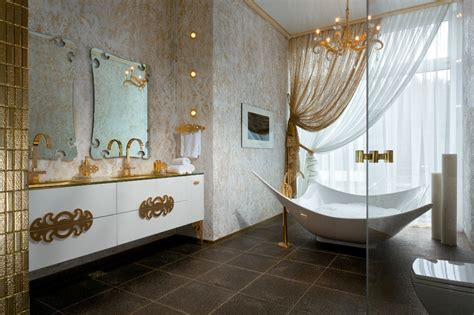 gold white bathroom decor interior design ideas