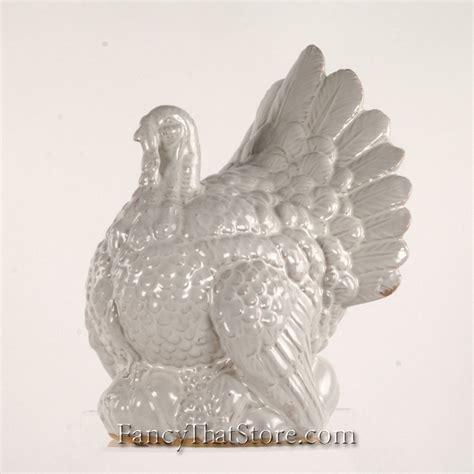large ceramic turkey centerpiece white ceramic turkey large fancy that store