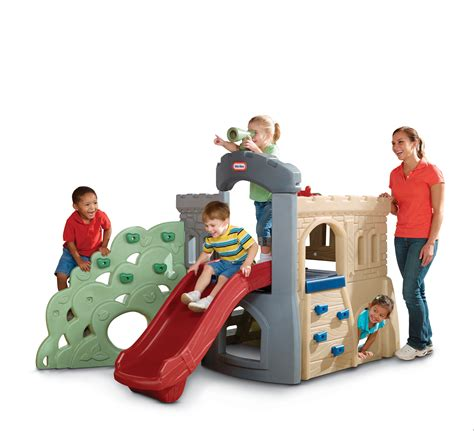 backyard climbing toys little tikes endless adventures rock climber and slide
