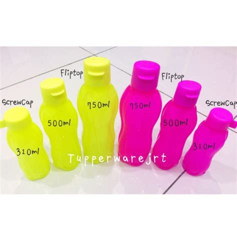 Eco Bottle Neon 310ml Tupperware tupperware neon eco bottle 310ml 500ml 750ml shopee