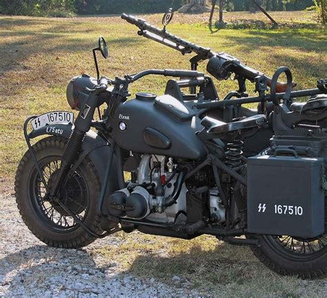 bmw    military motorcycle  sidecar