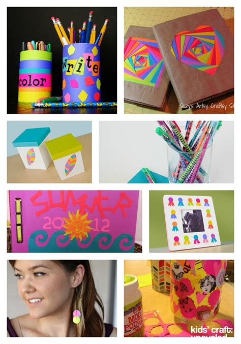 crafts for school bright papers for back to school family crafts