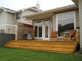 exterior deck and privacy wall in west edmonton