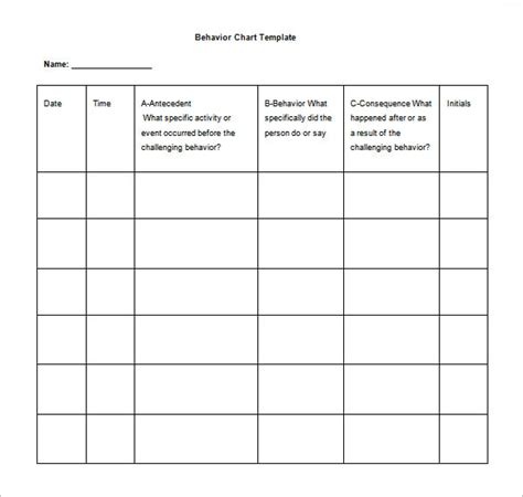 behavior log template 10 behavior chart templates pdf doc xls free