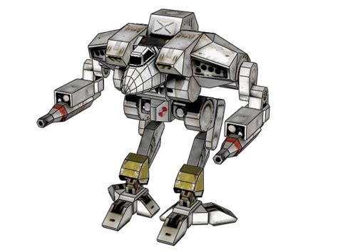 Mechwarrior Papercraft - mechwarrior 4 free mech paper model