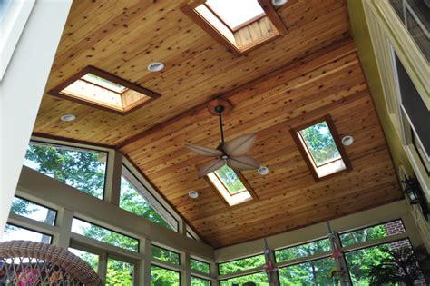Cedar T G Ceiling by Custom Screened Porch Traditional Porch Dc Metro
