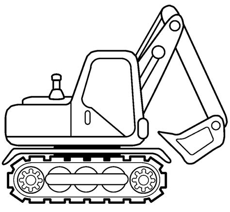 excavator coloring page printable excovator clipart coloring page pencil and in color