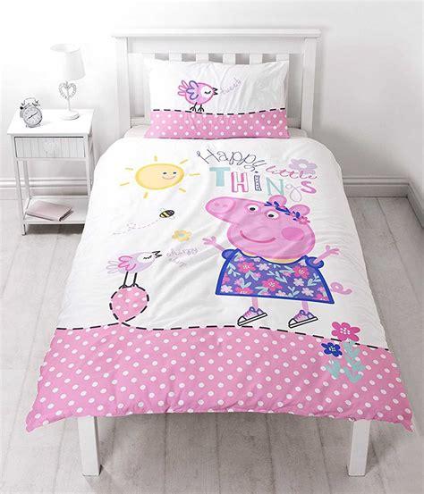 Peppa Pig Bed Set Duvet Peppa Pig Happy Reversible Panel Single Bed Duvet Quilt Cover Set 5055285402174