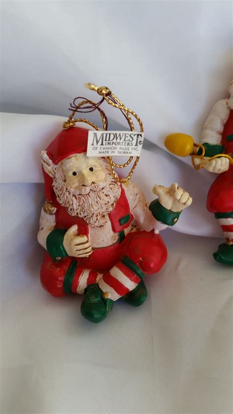 elves ornaments elves ornaments sitting and set of 2