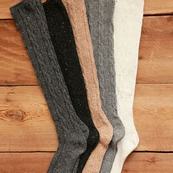 knee high knit socks wool blend cable knit knee high socks from knitted
