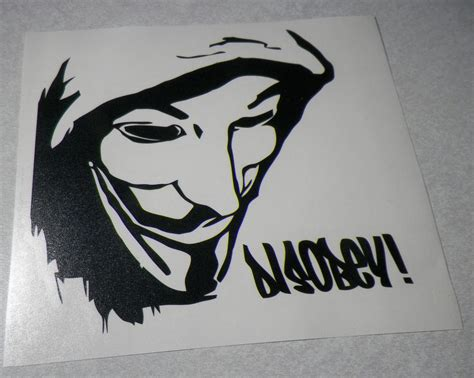 Stiekr Jupyter Vinyl Cut anonymous disobey fawkes mask die cut vinyl decal sticker my anon store