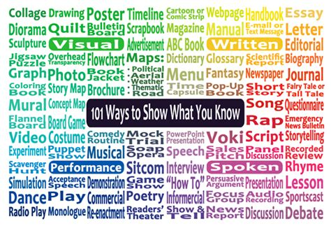 101 Creative Ways To Show What You Know Creative Ways To Present Data