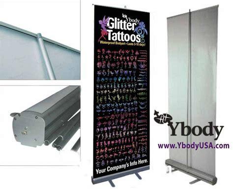 tattoo ink display ybody glitter tattoos roll up display banner for glitter