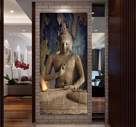 free shipping gold buddha oil painting wall art paintings home decor big buddha buddhism antique art wall canvas
