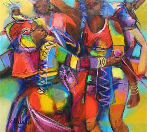 Cuban Home Decor trinidad carnival painting by cynthia mclean