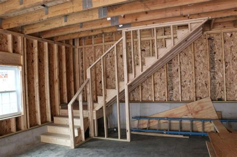 stairs design garage new 24 x34 detached garage with attic trusses the