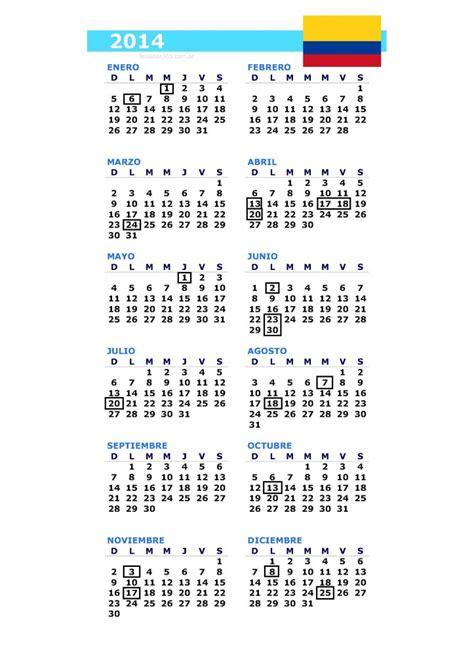 calendario y feriados colombia 2014 la economia de hoy