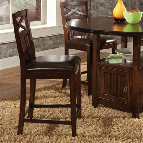 standard furniture sonoma counter height stool in oak standard sonoma counter height table 4 stools 11906 14