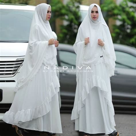 Syari Aliya by Baju Gamis Putih