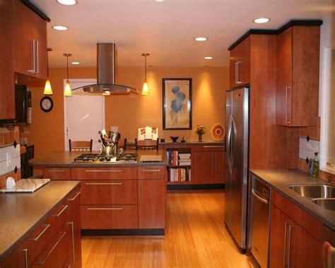 Interior Gorgeous Modern Kitchen Design With Brown Wooden