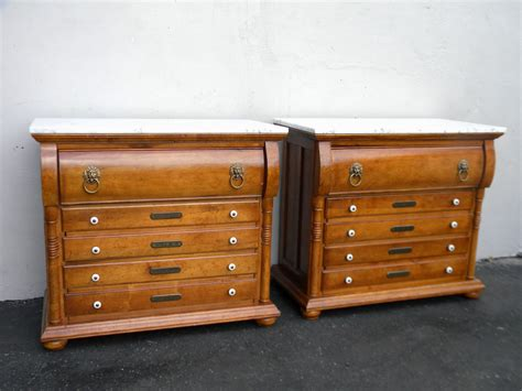 Large Nightstands by Pair Of Style Apothecary Marble Top Large