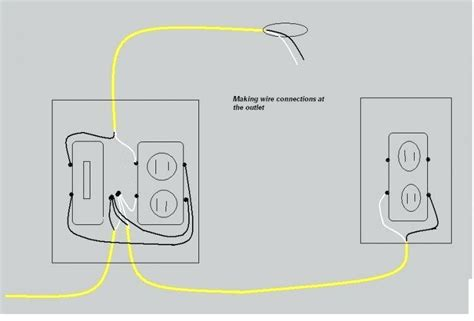 wiring diagram for light switch outlet combo image