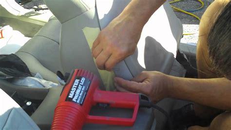 How To Repair Vinyl Car Interior by Vinyl Seat Repair How To Repair Vinyl Car Seat With Heat