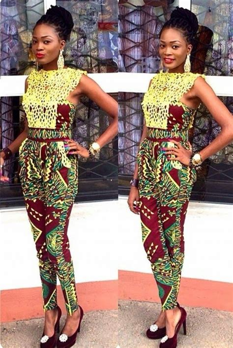 jumpsuit with ankara these are how fashionistas are slaying the ankara jumpsuit
