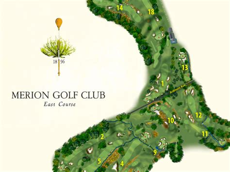 course layout for us open u s open merion course map philly