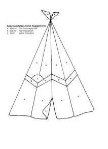 Teepee Template by Stained Glass Pattern Teepee