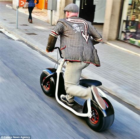 the scooter that s a cross between a bike and a segway and