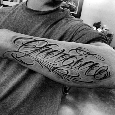 name tattoos on forearm 40 forearm name tattoos for manly design ideas