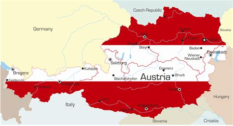 austria map with cities austria map with cities blank outline map of austria