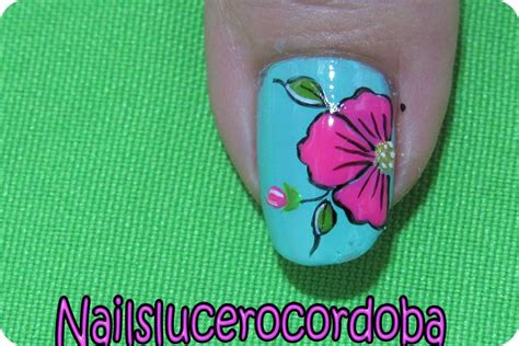 115 U 209 As Con Flores U 209 As Decoradas Nail Art | como pintar unas con diseno de flores como pintar las u