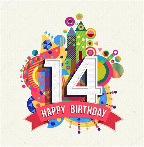 Happy Birthday Wishes For 9 Years Feliz Cumplea 241 Os 14 A 241 Os Tarjeta De Felicitaci 243 N Poster