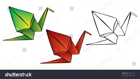 Origami Crane Images - origami paper crane vector illustration 29577166