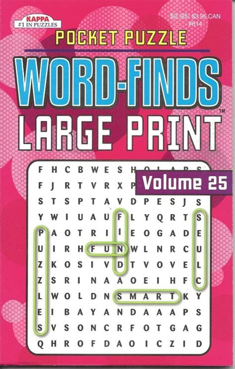 large print word finds puzzle book word search volume 241 books word finds kappa pocket puzzle large print wordsearch