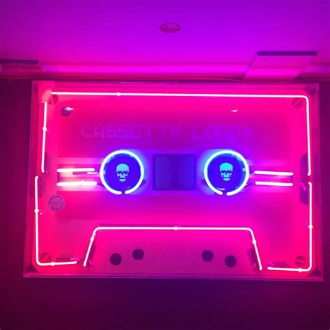 neon light signs for bedroom cassette neon light signage pinterest 네온사인 네온 및 눈