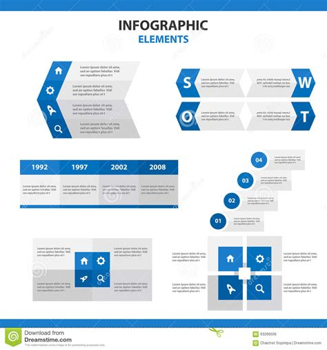 marketing leaflet template blue presentation templates abstract infographic