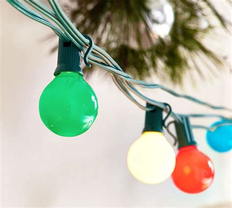 glass globe string lights multi colored glass globe string lights pottery barn