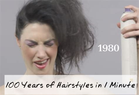 100 years hairstyle images 100 years of hairstyles in 1 minute ofm