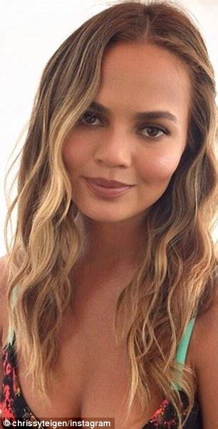 chrissy teigen hair color chrissy teigen s hair colorist reveals new lighter do
