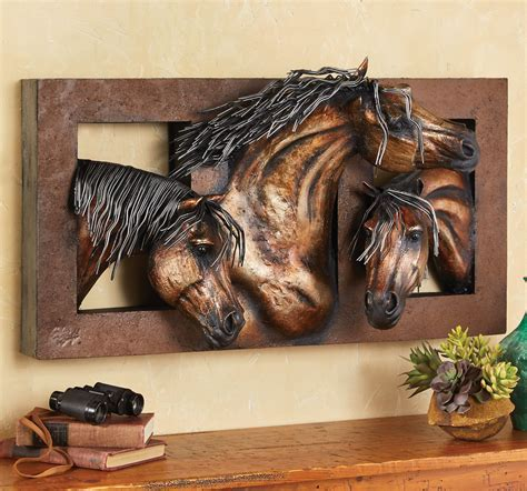 Sweet Freedom 3 D Horse Wall Sculpture