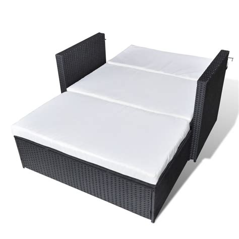 sofa bed 3 in 1 vidaxl 3 in 1 sofabed set folding rattan sofa bed