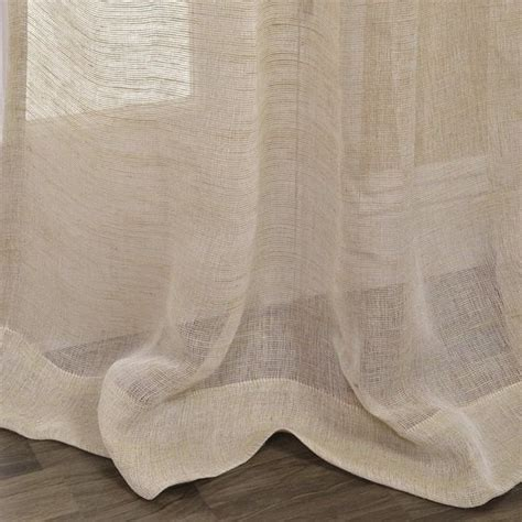sheer linen curtain fabric exclusive fabrics linen open weave natural curtain panel