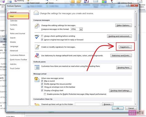 design html signature outlook 2010 how to make signature in outlook 2010 quehow