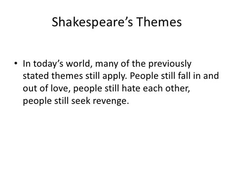 themes in macbeth that are relevant today shakespeare