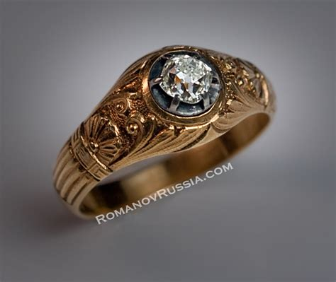 antique russian solitaire s gold ring ebay